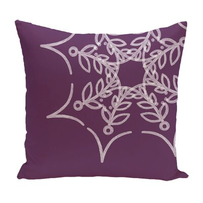 Web Art Holiday Print Throw Pillow Color: Purple