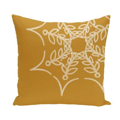 Web Art Holiday Print Throw Pillow Color: Gold