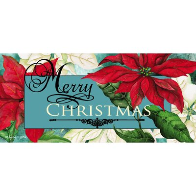 Poinsettia Sassafras Switch Doormat