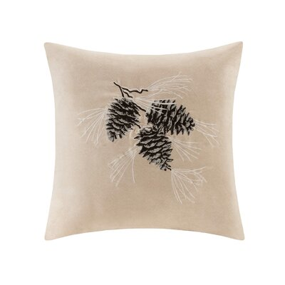 Pine Cone Suede Throw Pillow Color: Tan