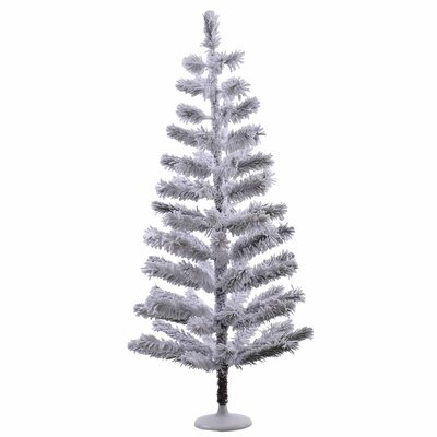 5' Silver Flocked Feather Artificial Christmas Tree