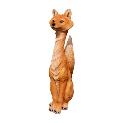 Sitting Fox Brown Figurine