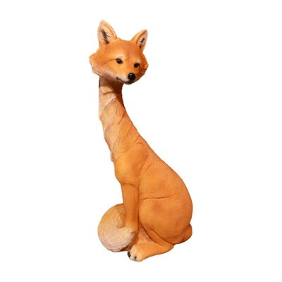 Sitting Fox Brown Figurine