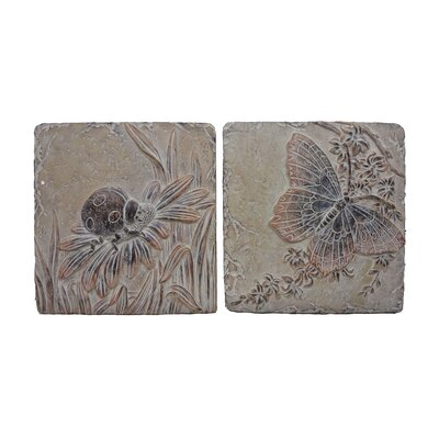 2 Piece 11.5 Asst Insects Tile Set