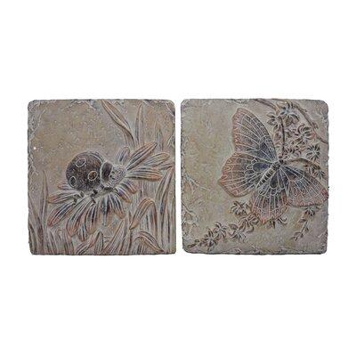 2 Piece 11.5 Asst Insects Tile Set