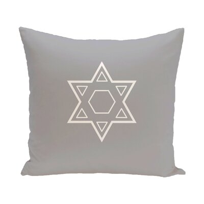 Star of David Throw Pillow Size: 16 H x 16 W, Color: Grey