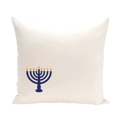 Holiday Geometric Print Eight Days of Light Throw Pillow Color: White, Size: 20 H x 20 W