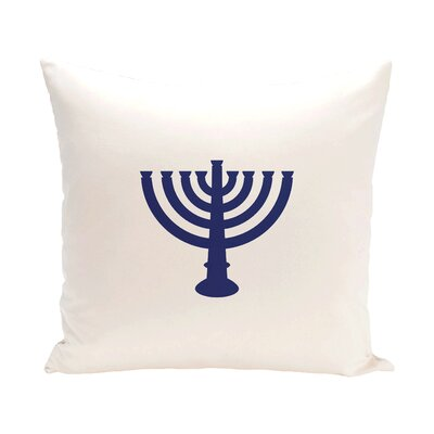 Holiday Geometric Print Menorah Major Throw Pillow Size: 18 H x 18 W, Color: White