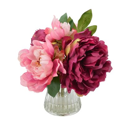 Bouquet of Peonies Floral Arrangement in Vase
