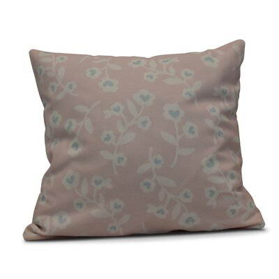 Valentines Floral Indoor/Outdoor Throw Pillow Size: 20 H x 20 W, Color: Pink