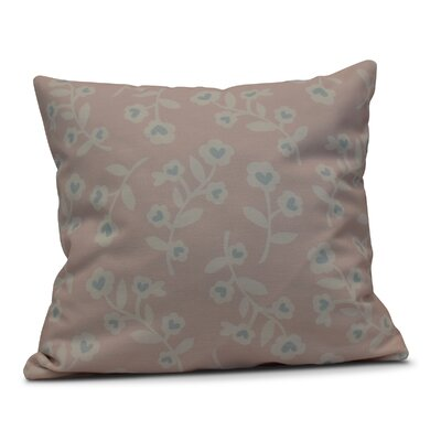 Valentines Floral Throw Pillow Size: 18 H x 18 W, Color: Pink