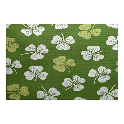 Funky Junky Green/White Area Rug Rug Size: 3 x 5