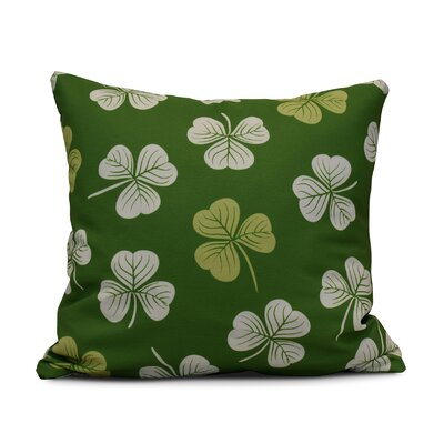 Funky Junky Lucky Throw Pillow Color: Dark Green, Size: 26 H x 26 W