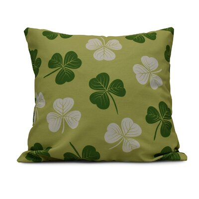 Funky Junky Lucky Throw Pillow Size: 20 H x 20 W, Color: Light Green