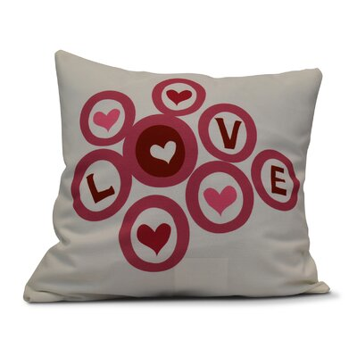 Love in the Round Throw Pillow Size: 18 H x 18 W