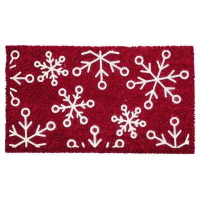 Snowflakes Flocked Doormat