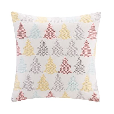 Holiday Tree Cotton Throw Pillow