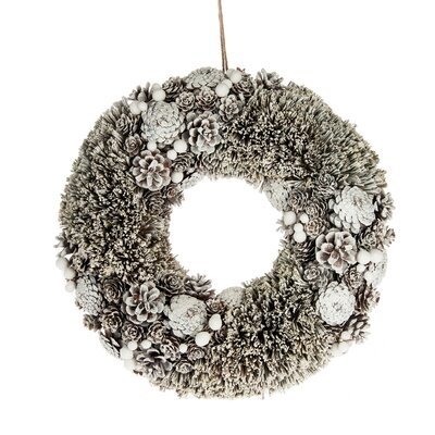 Father Frost 15 Pinecone Wreath