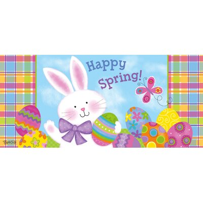 Colorful Bunny Sassafras Doormat