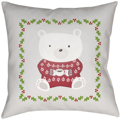 Beary Warm Indoor/outdoor Throw Pillow Size: 16 H x 16 W x 4 D