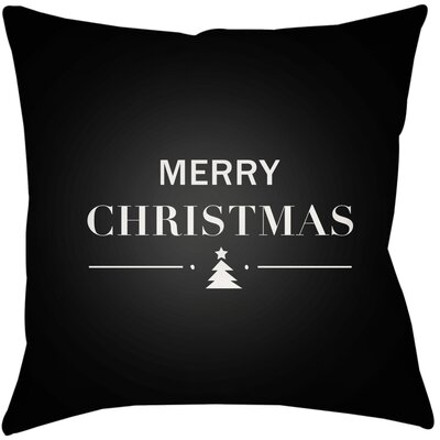 Merry Holiday Indoor/outdoor Throw Pillow Size: 16 H x 16 W x 4 D