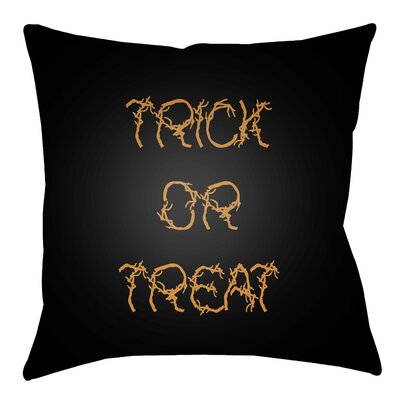 Boo Indoor/outdoor Throw Pillow Size: 20 H x 20 W x 4 D, Color: Black / Orange