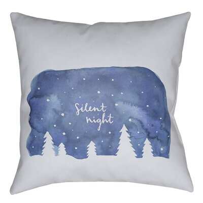 Silent Night Indoor/outdoor Throw Pillow Size: 18 H x 18 W x 4 D