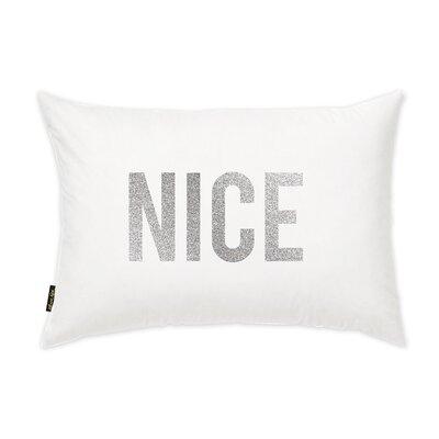 Nice Glitter Letters Lumbar Pillow
