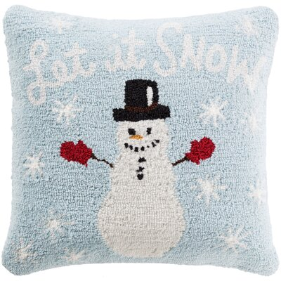 Snowflakes Pillow Cover Fill Type: Polyester