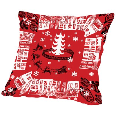 Holiday Pattern Throw Pillow Size: 14 H x 14 W x 2 D