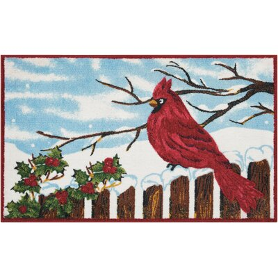 Cardinal & Holly Blue Area Rug Rug Size: Rectangle 110 x 3
