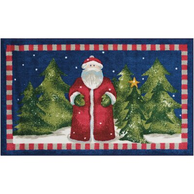 Santa Navy Area Rug Rug Size: Rectangle 110 x 3