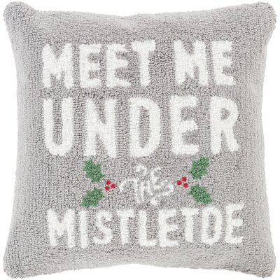 Meet Me Winter Throw Pillow Fill Type: Down