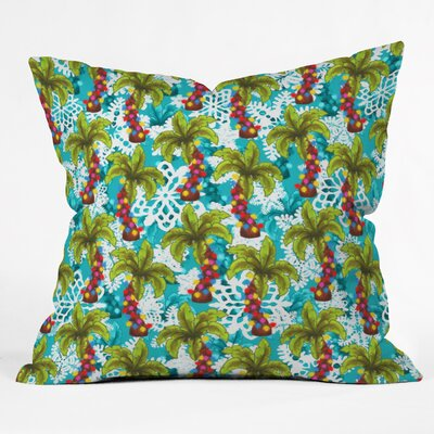 Jade Tropical Christmas Throw Pillow Size: Large