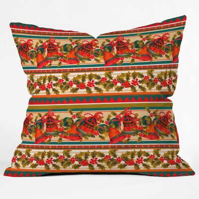 Jade Bells Throw Pillow Size: Large
