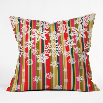 Jade Flakes Throw Pillow Size: Large