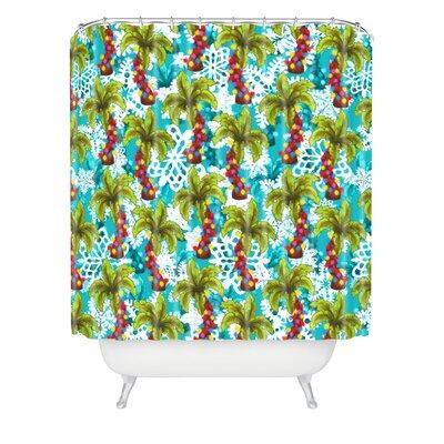 Jade Tropical Christmas Shower Curtain
