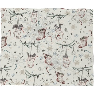 Silkeborg Heavenly Christmas Plush Fleece Throw Blanket Size: Large