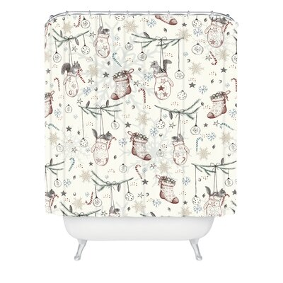 Silkeborg Heavenly Christmas Shower Curtain