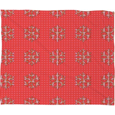Oosterhout Flakes A Flutter Plush Fleece Throw Blanket Size: Small
