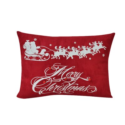 Flying Santa Decorative Lumbar Pillow