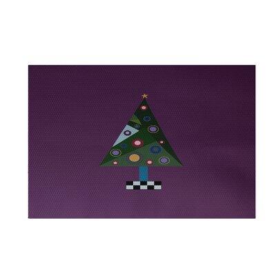 Crazy Christmas Decorative Holiday Print Purple Indoor/Outdoor Area Rug Rug Size: 2 x 3