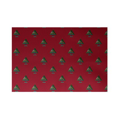 Crazy Christmas Decorative Holiday Print Red Indoor/Outdoor Area Rug Rug Size: 2 x 3