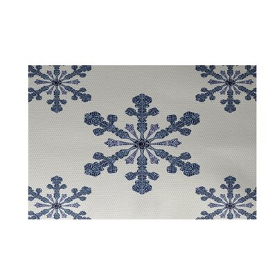 Vail Decorative Holiday Print Ivory Cream Indoor/Outdoor Area Rug Rug Size: 3 x 5
