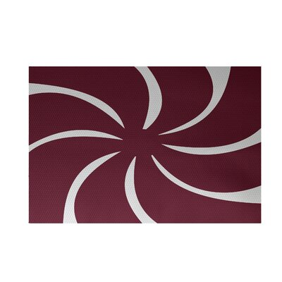 Decorative Holiday Geometric Print Cranberry Burgundy Indoor/Outdoor Area Rug Rug Size: 4 x 6