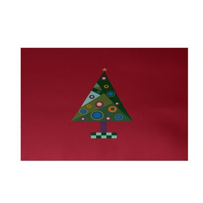 Crazy Christmas Decorative Holiday Print Red Indoor/Outdoor Area Rug Rug Size: 3 x 5