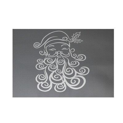 Santa Baby Decorative Holiday Print Gray Indoor/Outdoor Area Rug Rug Size: 3 x 5