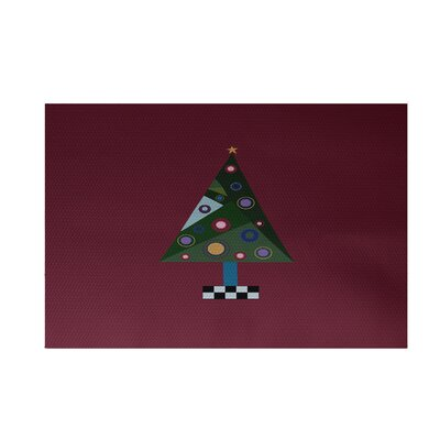 Crazy Christmas Decorative Holiday Print Cranberry Burgundy Indoor/Outdoor Area Rug Rug Size: 3 x 5