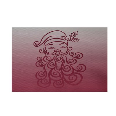 Santa Baby Decorative Holiday Ombre Print Cranberry Burgundy Indoor/Outdoor Area Rug Rug Size: 2 x 3