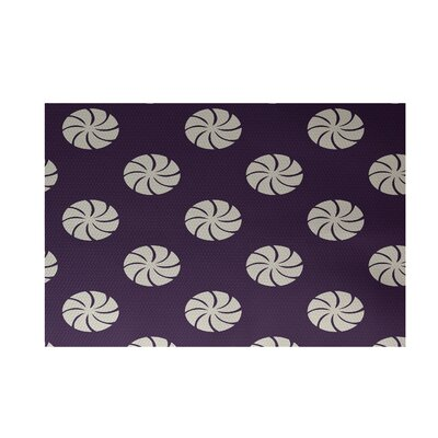 Decorative Holiday Geometric Print Purple Indoor/Outdoor Area Rug Rug Size: Rectangle 3 x 5